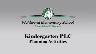 WES K PLC Planning Activities Thumbnail