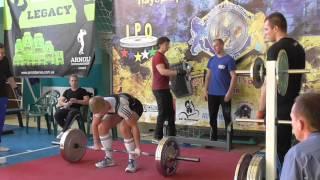 338 Каленченко Богдан. Становая тяга 165 кг. Кубок Украины 2015 (UPC)