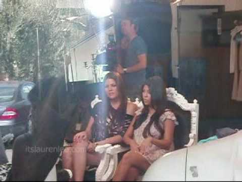 Khloe And Kourtney Kardashian Filming In Dash Store