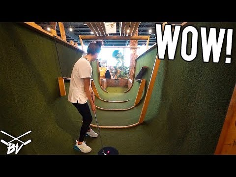 WE HAVE NEVER PLAYED A MINI GOLF COURSE LIKE THIS! - BACK TO BACK HOLE IN ONE AND CRAZY HOLES!