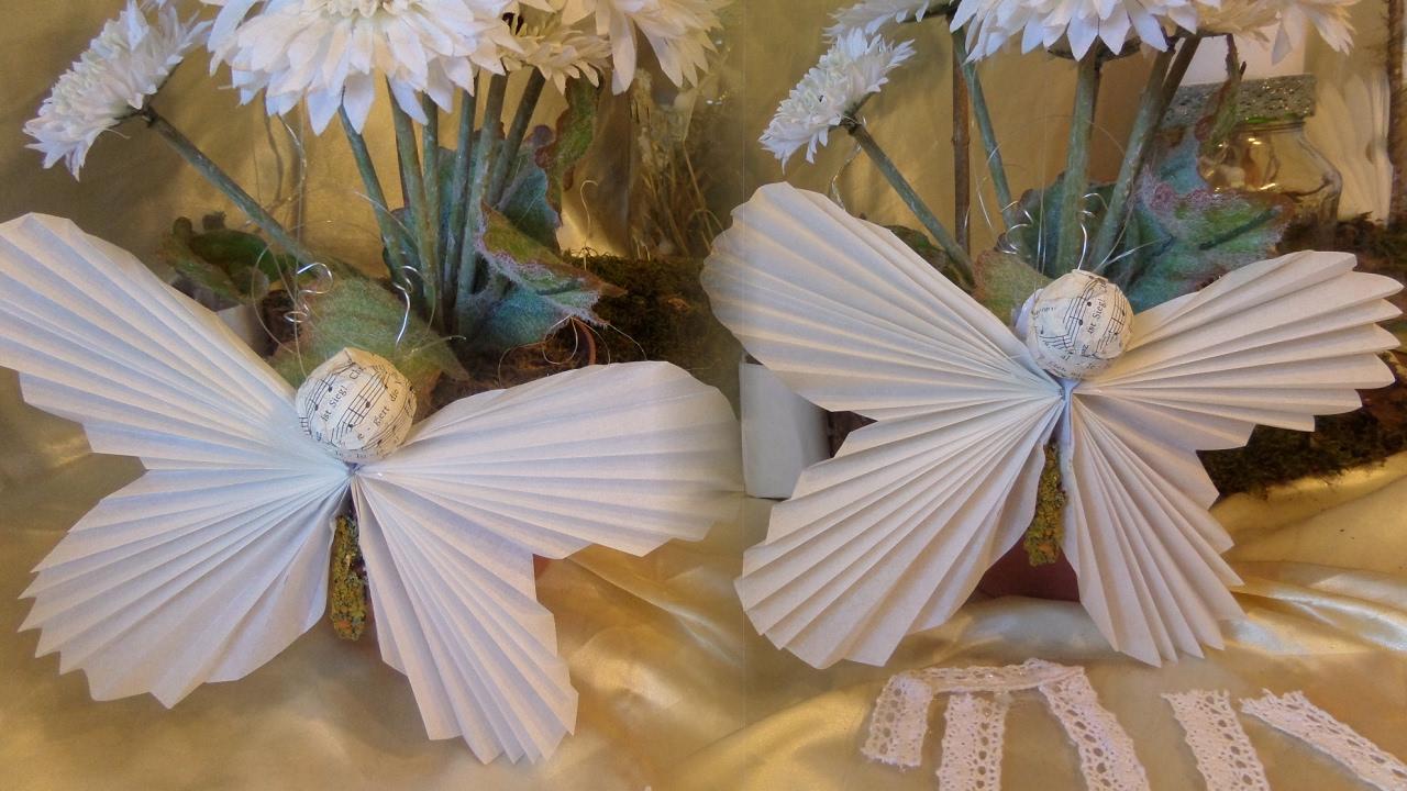 DIY:Bastel-Idee, Schmetterling Aus Butterbrotpapier