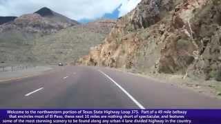 Westbound Texas State Loop 375 in El Paso, Texas (Transmountain Road)
