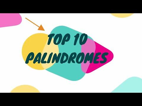 Top 10 Palindromes