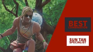 Best Combos | Sun Tan Specialist | Fortnite Skin Review |