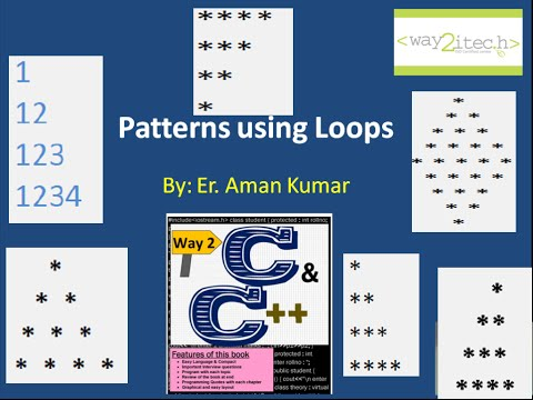 18.  Star and Number Patterns in C and C++ Programming Language by Aman Kumar