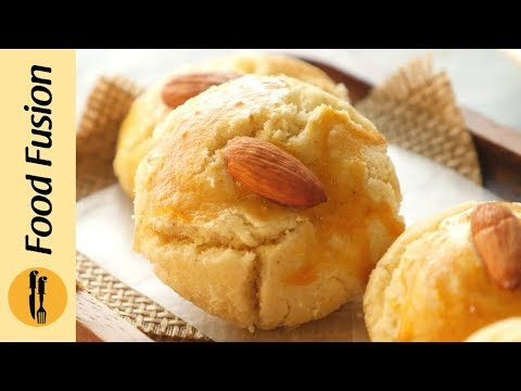Nan khatai recipe without oven (Almond) By Food Fusion