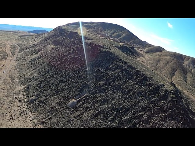 Drone view of Nevada earthquake area near Candelaria mountains Nevada..