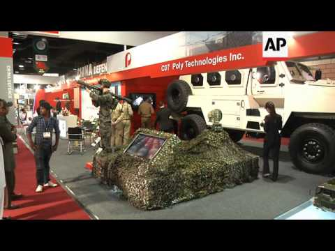 Defence exhibition with more than 200 companies displaying latest armaments