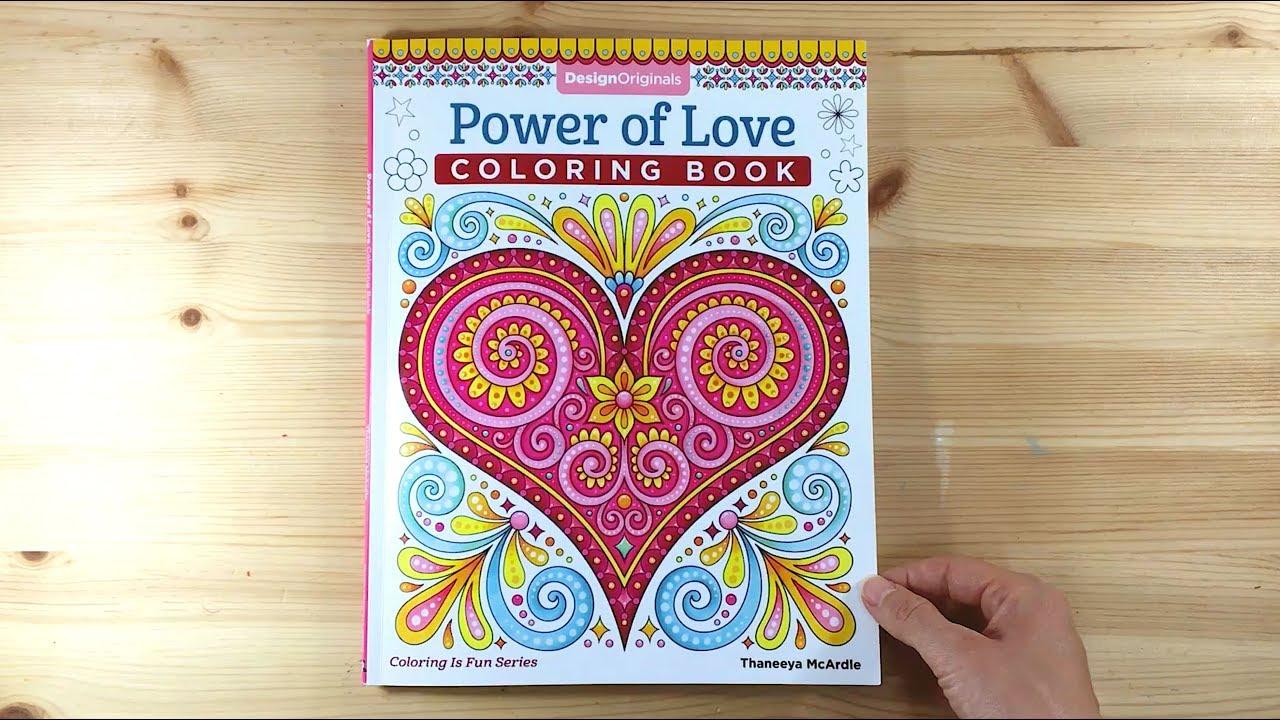 Power Of Love Coloring Book Flip Through