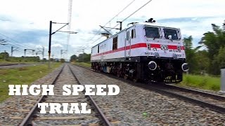 SEMI HIGH SPEED TRAIN TRIAL Run Chennai-Gudur Indian Railways EXCLUSIVE