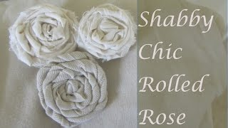 How to Make Vintage Shabby Chic Rolled Fabric Roses Close Up  Part 2