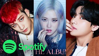 TOP 50 MOST STREAMED ALBUMS BY KPOP ACTS ON SPOTIFY | JANUARY 2021 - most listened artist spotify personal