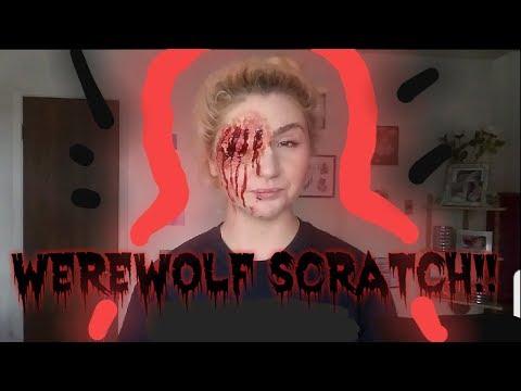 Werewolf Scratch!! | Halloween makeup | A Bloody Mess!! thumbnail