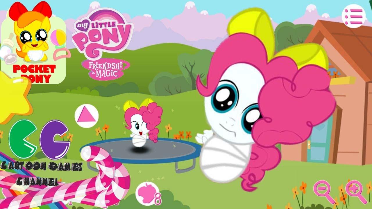 El pequeo beb Pinkie Pie de pelo de potro lindo Pony juego de