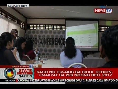 SONA: Kaso ng HIV/AIDS sa Bicol region, umakyat sa 226 noong Dec. 2017