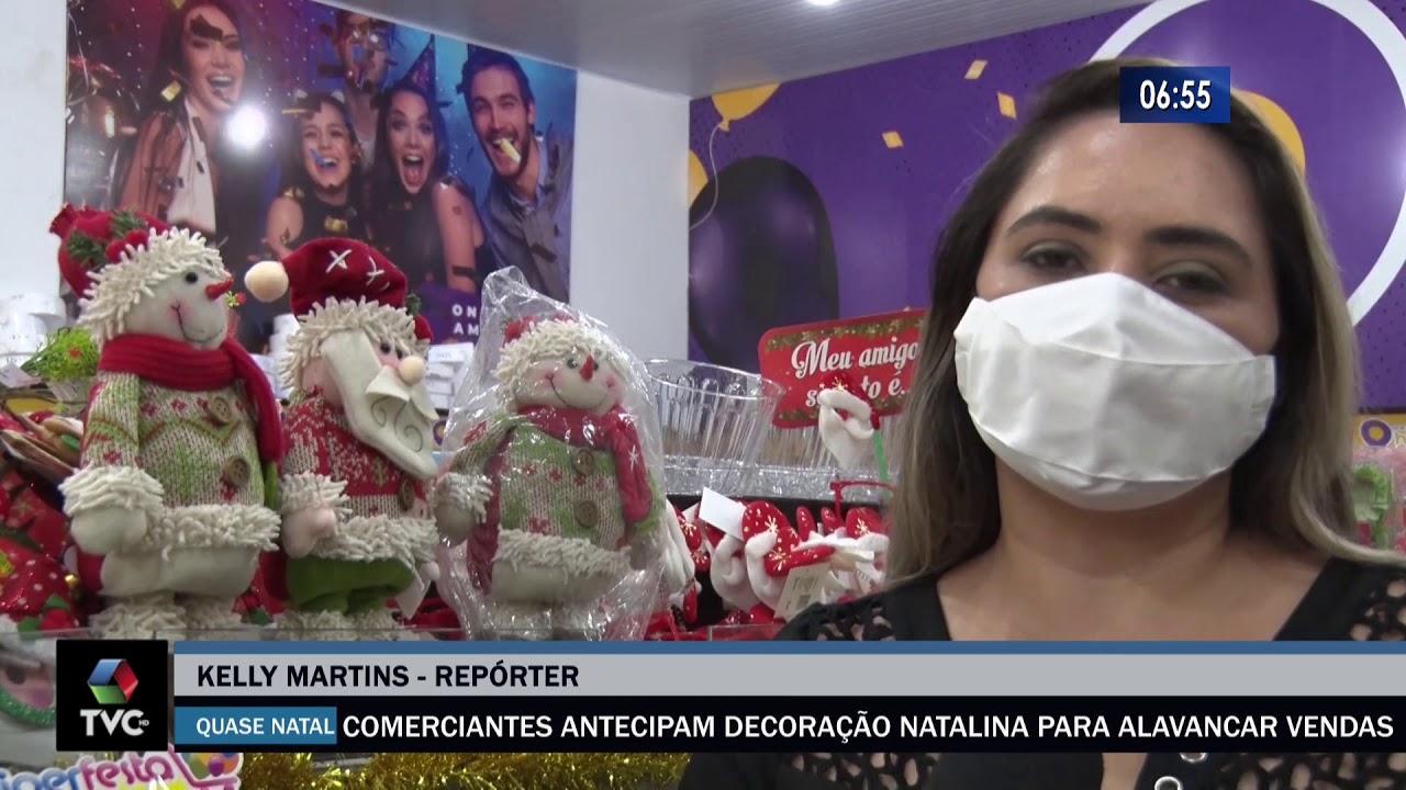 Comerciantes antecipam decoração natalina para alavancar vendas
