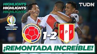 Highlights   Colombia 1-2 Perú   Copa América 2021   Grupo A-J3   TUDN