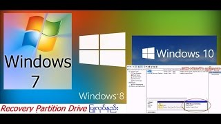 How to make Recovery Partition Drive Windows 7/8/8.1 (Myanmar)