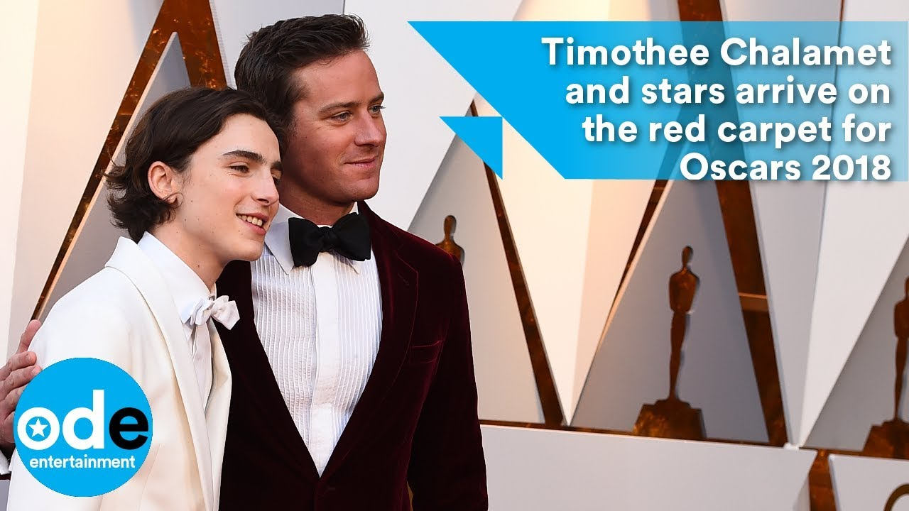40fb8072083 Oscars 2018: Timothée Chalamet and stars arrive on the red carpet ...
