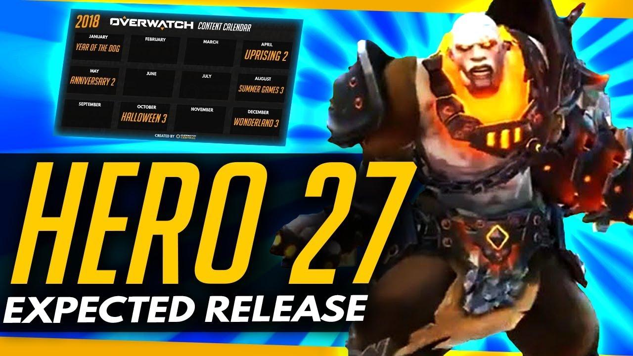 Overwatch Event Calendar.Overwatch Hero 27 Expected Release 2018 Content Calendar