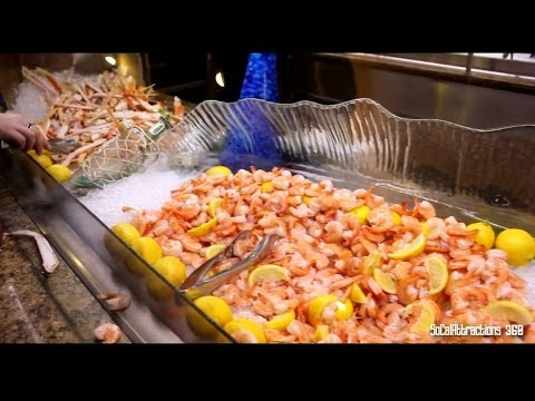 Tour of MGM Grand Buffet in Las Vegas in HD - Dinner Buffet Tour at MGM