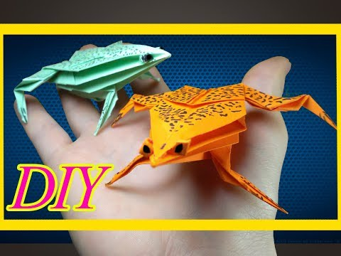 How to Make a 3D Frog From Paper - DIY Paper Frog