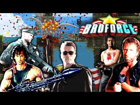 chuck norris rambo y más broforce add to ej playlist canal del noob