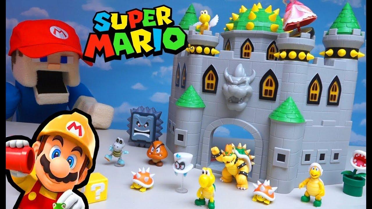 Save The Princess Mario Super Mario Bros Bowser S Castle Playset Stop Motion Adventure Unboxing