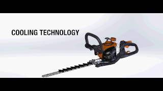 ECHO Hedge Trimmer HC 2810ESR See the cooling technology that makes it great for the toughest jobs.