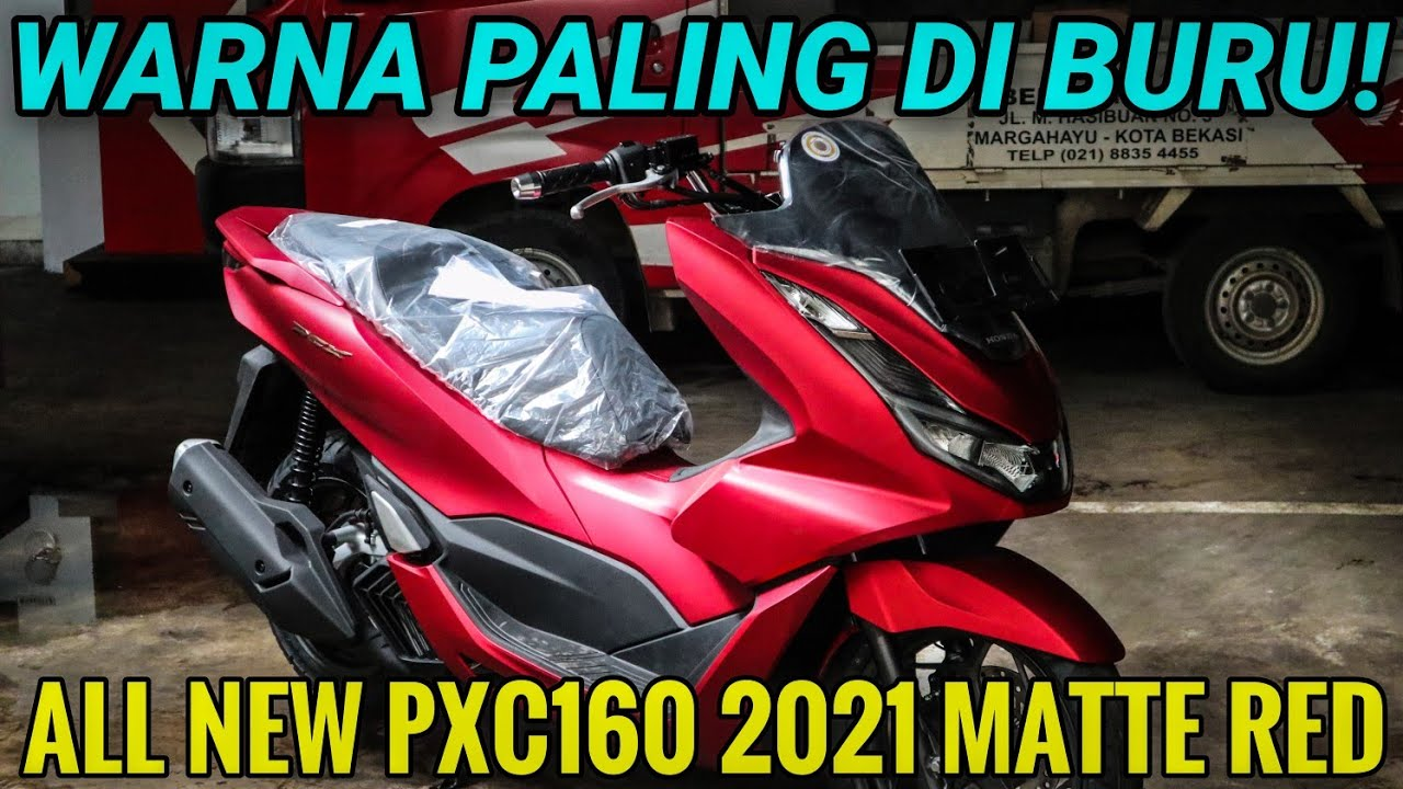 ALL NEW PCX160 2021 ABS MATTE RED 🔥