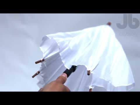 Plain Umbrella White Jollybrollys