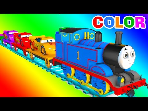 Thumbnail: MCQUEEN Train COLOR for Babies - Learning Educational Video - Learn Cars 3D Superheroes for Kids
