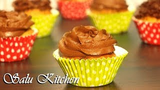 How to Make Easy Cupcake || 'X'mas Special || How to Make Cake Flour and Frosting