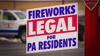 Formerly banned fireworks now sold to Pennsylvania residents