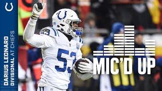 Darius Leonard Mic'd Up Against The Chiefs