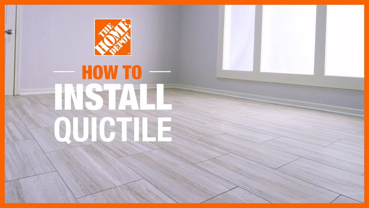 how to install quictile by daltile porcelain tile the home depot