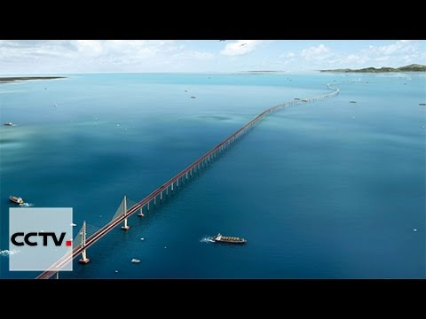 Construction on Hong Kong-ZhuhaiI-Macao Bridge is close to completion