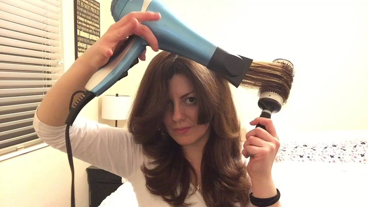HOW TO Blow dry on medium seriously thick hair - YouTube