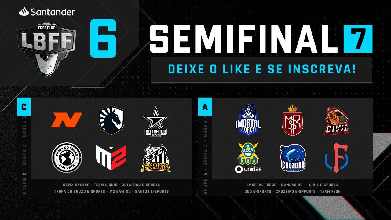 LBFF 6 Série B - Semifinal 7 - Grupos C e A   Free Fire