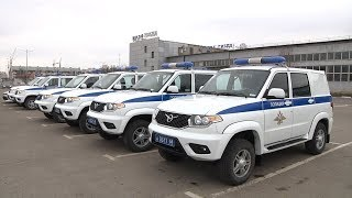 Полицейские Тамбовской области получили новые служебные автомобили