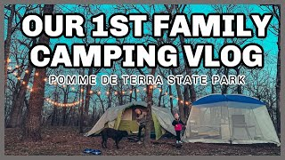 Our 1st Family Tęnt Camping Vlog - Missouri Camping - Pomme de Terre State Park - Fun Family Camping