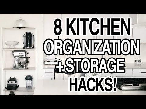 KITCHEN STORAGE HACKS + ORGANIZATION IDEAS!