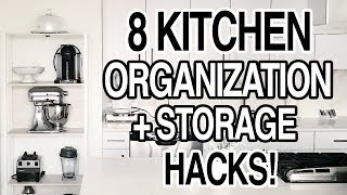 KITCHEN STORAGE HACKS + PANTRY ORGANIZATION IDEAS!
