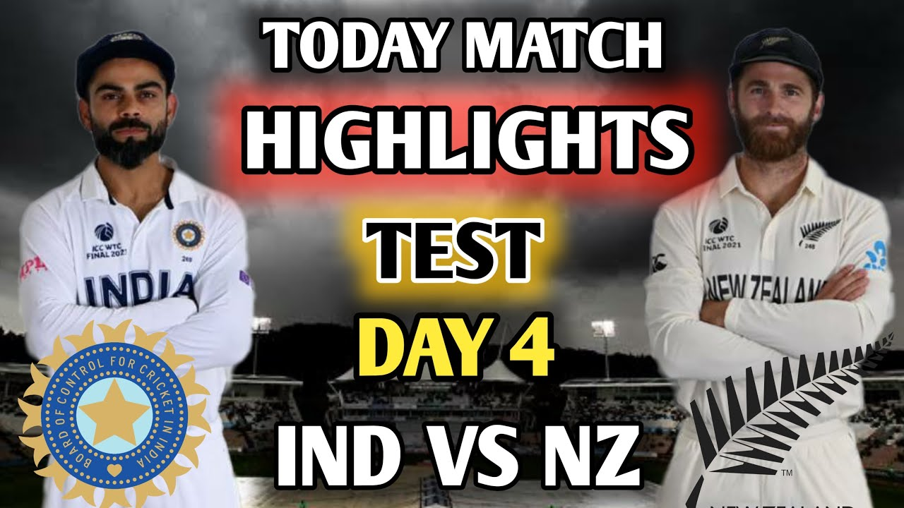 Download IND VS NZ TEST || DAY 4 HIGHLIGHTS || India Vs New Zealand WTC FINAL MATCH TEST DAY 4.