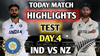 IND VS NZ TEST || DAY 4 HIGHLIGHTS || India Vs New Zealand WTC FINAL MATCH TEST DAY 4.