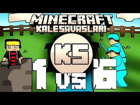 Minecraft: NDNG Kale Savaşları - 1VS6 - Tuzak Kalesi 2 YILBAŞI ÖZEL W/Ghostgamer
