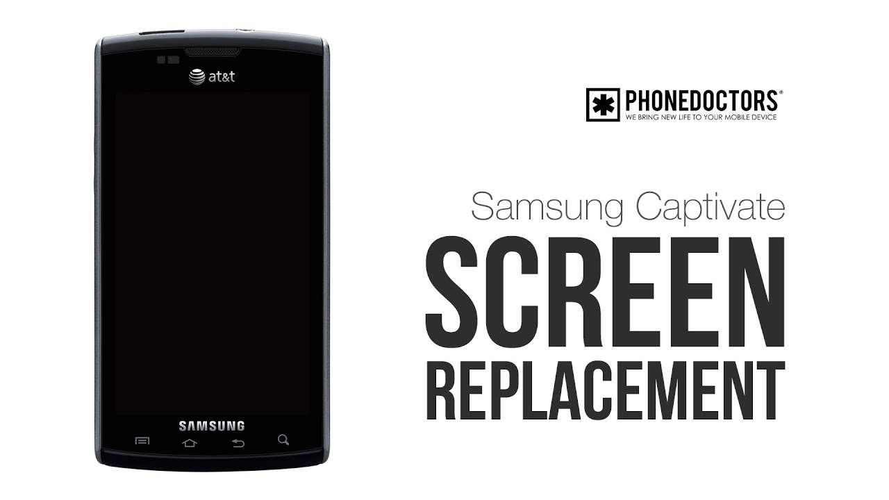samsung captivate i897 repair lcd glass screen youtube rh youtube com