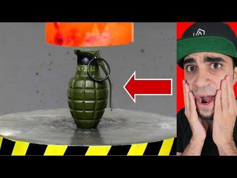 """اداة سحق الاشياء ضد قنبلة """" صار انفجار """" !!"""