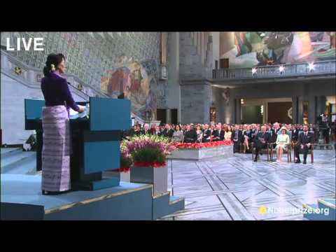 缅甸 翁山蘇姬 Aung San Suu Kyi speech in Norway on June 16, 2012 - YouTube.flv