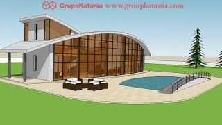 Mar De Cristal. Chalet Diseñado Por Grupo Katania Para Construir En Costa Blanca/costa Cálida